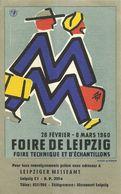 """8913""""FOIRE DE LEIPZIG-28 FÉVRIER-8 MARS 1960""""-CARTONCINO ORIGINALE - Advertising"""