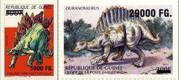 Guinea 2009, Animals, Dinosaurus, 2val Overprinted - Prehistorics
