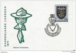 243 - 4 - Enveloppe D'Autriche Avec Ob Lit Spéciale Bundeslager Ludesch - Scoutisme 1971 - Scouting