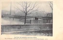 75 - PARIS 5° - INONDATIONS De PARIS ( Janvier 1910 ) Quai St Bernard - Entrepôt Des Grands Moulins De CORBEIL CPA Seine - De Overstroming Van 1910