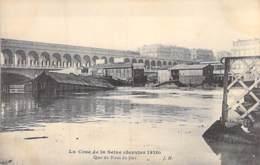 75 - PARIS - INONDATIONS De PARIS ( Janvier 1910 ) Quai Du Point Du Jour - CPA - Seine - De Overstroming Van 1910
