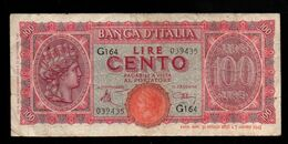 Italie - 100 Lire - 1944 (verso Voir Scan) - 100 Lire