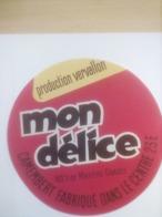 ETIQUETTE/CAMEMBERT/PRODUCTION VERVALLON/FABRIQUE DANS LE CENTRE - Fromage