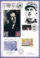 FRANCE - CARTE DE GAULLE OBLI ALGER + ENV OBLI OUAGADOUDOU 12.70+ CONSEIL DE L'EUROPE STRASBOURG 14.1.74 - De Gaulle (General)