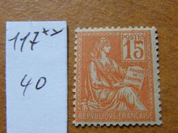 Mouchon  No 117 Neuf ** - 1900-02 Mouchon