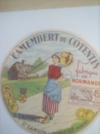 ETIQUETTE/CAMEMBERT/DU COTENTIN/NORMANDIE/E.SAUVAGE/ST SAMSON DE BONFOSSE/ MANCHE - Fromage