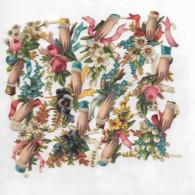 12 Petits Découpis PLAQUE FLEURS MAINS   4.5 X 3.5 Cm 66 - Flowers