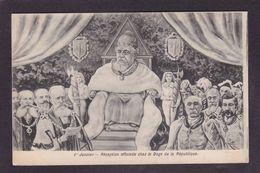 CPA BIANCO Fallières Armand Président De La République Caricature Satirique Non Circulé Clemenceau - Satiriques
