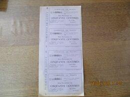 COMMUNE DE ROUPY BON MUNICIPAL DE CINQUANTE CENTIMES 20 SEPTEMBRE 1915 LE MAIRE BRABANT PLANCHE DE 4 BONS - Notgeld