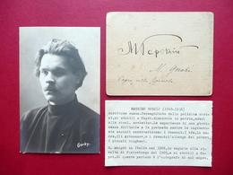Autografo Maksim Gor'kij Biglietto Firma Capri Primo '900 Letteratura Molto Raro - Handtekening