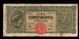 Italie - 50 Lire - 1944 (verso Voir Scan) - 50 Lire