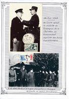 FRANCE - CARTE DE GAULLE OBLI  HOM HEROS MARTYRS FRANCE COMBATTANTE + CARTE OBLI MARECHAL DE LATTRE BELFORT 11.89 - De Gaulle (General)