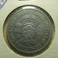 Great Britain 2 Shillings 1945 Silver - J. 1 Florin / 2 Shillings