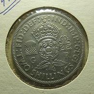 Great Britain 2 Shillings 1939 Silver - J. 1 Florin / 2 Shillings