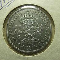 Great Britain 2 Shillings 1942 Silver - J. 1 Florin / 2 Shillings