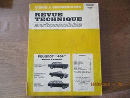 """PEUGEOT """"404"""" REVUE TECHNIQUE AUTOMOBILE 1971 - Auto"""