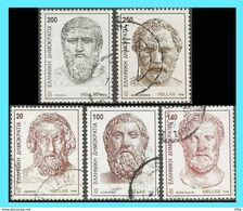 GREECE- GRECE - HELLAS 1998: Ancient Greek Writers Compl..set Used - Griechenland