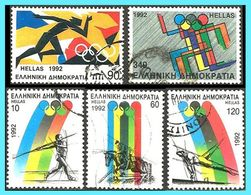 GREECE - GRECE- HELLAS 1992: Olympic Games Barcelona Compl. Set Used - Griechenland