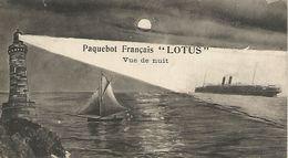 "Postkaart.  Paquebot Francis  ""LOTUS""  Vue De Nuit 13,8 X 7,5 Cm - Piroscafi"