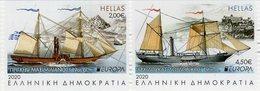 Greece - 2020 - Europa CEPT - Ancient Postal Routes - Mint Booklet Stamp Set - Grèce