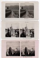 AK-1490/ 3 X  Krim Jalta Rußland Stereofoto Ca.1905 - Photos Stéréoscopiques