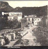 AK-2518/ Toarmina Italien Stereofoto Ca.1905  - Photos Stéréoscopiques
