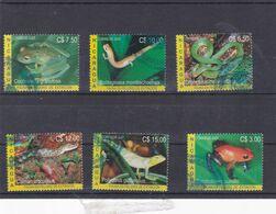 Nicaragua YV 2630/5 Série Complète Oblitérée 2004 - Reptiles & Amphibians