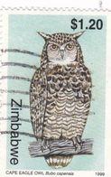 Zimbabwe YV 407 Oblitéré 1999 Hiboux Du Cap - Owls