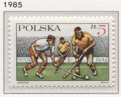 Poland 1985 Mi 2992 Polish Field Hockey Association, Sport MHN** - Rasenhockey