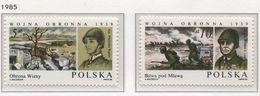 Poland 1985 Mi 2993-94 The Invasion Of Poland 1939, World War II MHN** - WW2