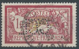 Lot N°57971  Variété/n°121, Oblit Cachet à Date De PARIS, Centre Déplacé, Perforé CCF - 1900-27 Merson