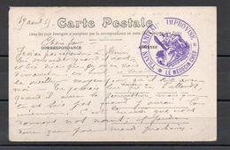 """Cachet """"Train Sanitaire Improvisé"""" Sur CPA De Bourges Du 19 Avril 1915 - Guerre Mondiale (Première)"""