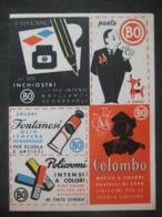 PUBBLICITA' PUBLICITE' PENNE MATITE COLORI PUNTA BO FORMULARIO FIGURE PIANE SOLIDI - Advertising