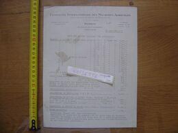 Publicite Tarif 1927 COMPAGNIE INTERNATIONALE MACHINES AGRICOLES Deering LYON - Advertising
