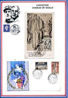 FRANCE - CARTE OBLI JOURNEE DES MARTYRS CLERMONT EN ARGONNE + ENV OBLI INAUG. MEMORIAL VOSGIEN DE LA DEPORTATION EPINAL. - WW2