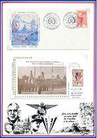 FRANCE -ENV OBLI CONGRES NAT. MARSEILLE 6/7.05.72 +  ENV OBLI 35E ANNIV VICTOIRE MUSEE RESIST. BRETONNE VANNES 8.5.80 - WW2