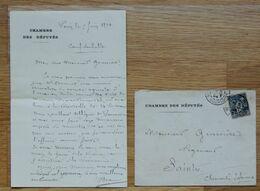 1894 - Ernest Braud (Rochefort 1846 - 1915) Député De La Charente Maritime - Mérite Agricole  - FRANCO DE PORT - Handtekening