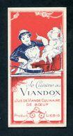 """Très Belle Carte Publicitaire Vers 1900 """"Viandox - Produit Liebig"""" - Advertising"""