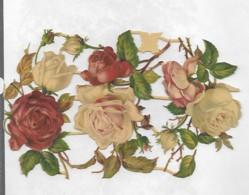 3 Découpis PLAQUE ROSES FLEURS  17 X 10 Cm   76 - Flowers