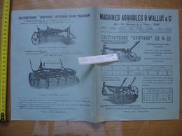 Publicite MACHINES AGRICOLES Wallut PARIS Cultivateurs GRIFFARD Pour Tracteur - Advertising