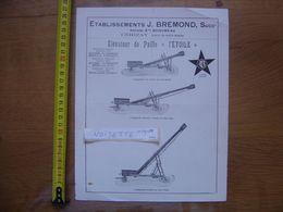 Publicite MACHINES AGRICOLES Bremond CERIZAY Elevateur De Paille L'ETOILE - Advertising