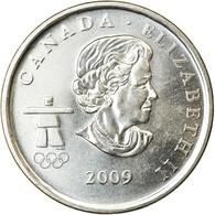 Monnaie, Canada, Elizabeth II, 25 Cents, 2009, Royal Canadian Mint, SUP, Nickel - Canada