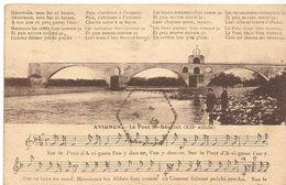 AVIGNON Le Pont St BENEZET  Paroles, Musique Et Partition - Musique Et Musiciens