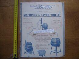 Publicite Tarif MACHINES AGRICOLES Dolle VESOUL Machines A Laver - Advertising