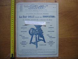 Publicite MACHINES AGRICOLES Dolle VESOUL Concasseur A Reducteur Vitesse - Advertising