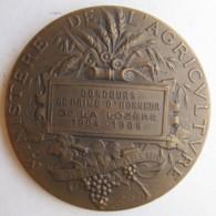 Médaille Concours De Prime D'Honneur De La Lozère 1904 – 1905, Ministère De L'Agriculture, Par Dubois - Other