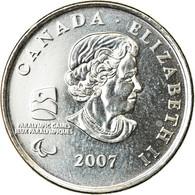 Monnaie, Canada, Elizabeth II, Paralympic Winter Games, 25 Cents, 2007, Royal - Canada