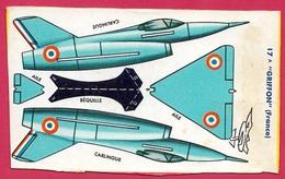 Découpage Paquet De BANANIA - Avion à Monter GRIFFON (France) ** Aviation De Chasse Objet Publicitaire - Banania