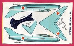 Découpage Paquet De BANANIA - Avion à Monter MIG (URSS) (Russie) ** Aviation De Chasse Objet Publicitaire - Banania