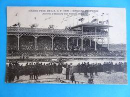 GRAND PRIX DE L'A. C. F. 1908 - Grosses Voitures Arrivée D'Hemery Sur Voiture Benz - Grand Prix / F1